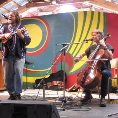 With Peter J Slack, Midsummer Festival, Smithers, BC, 2011.