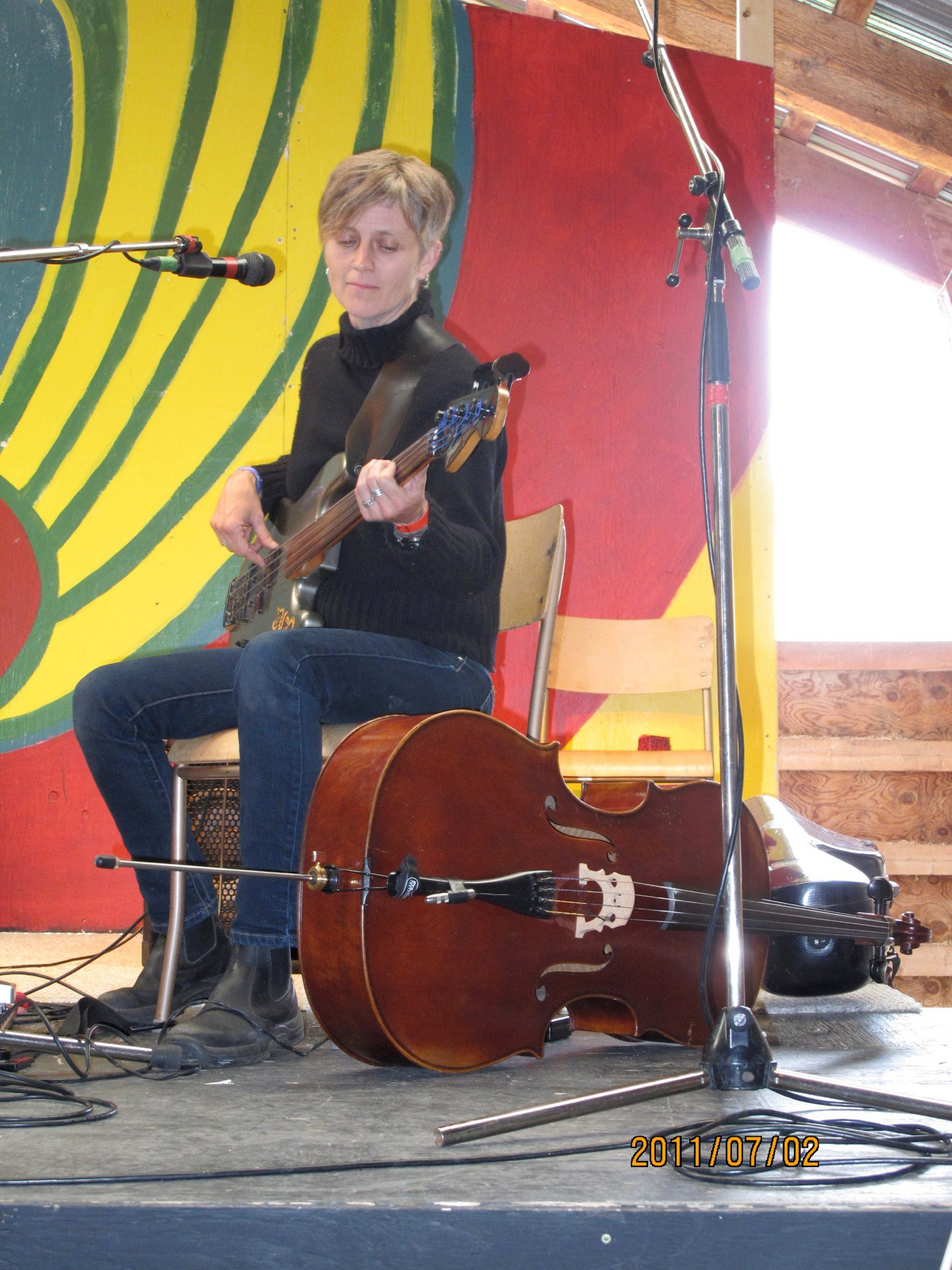 The long drive from Toronto with Peter ended with a set at the Midsummer Festival in Smithers, BC, 2011.