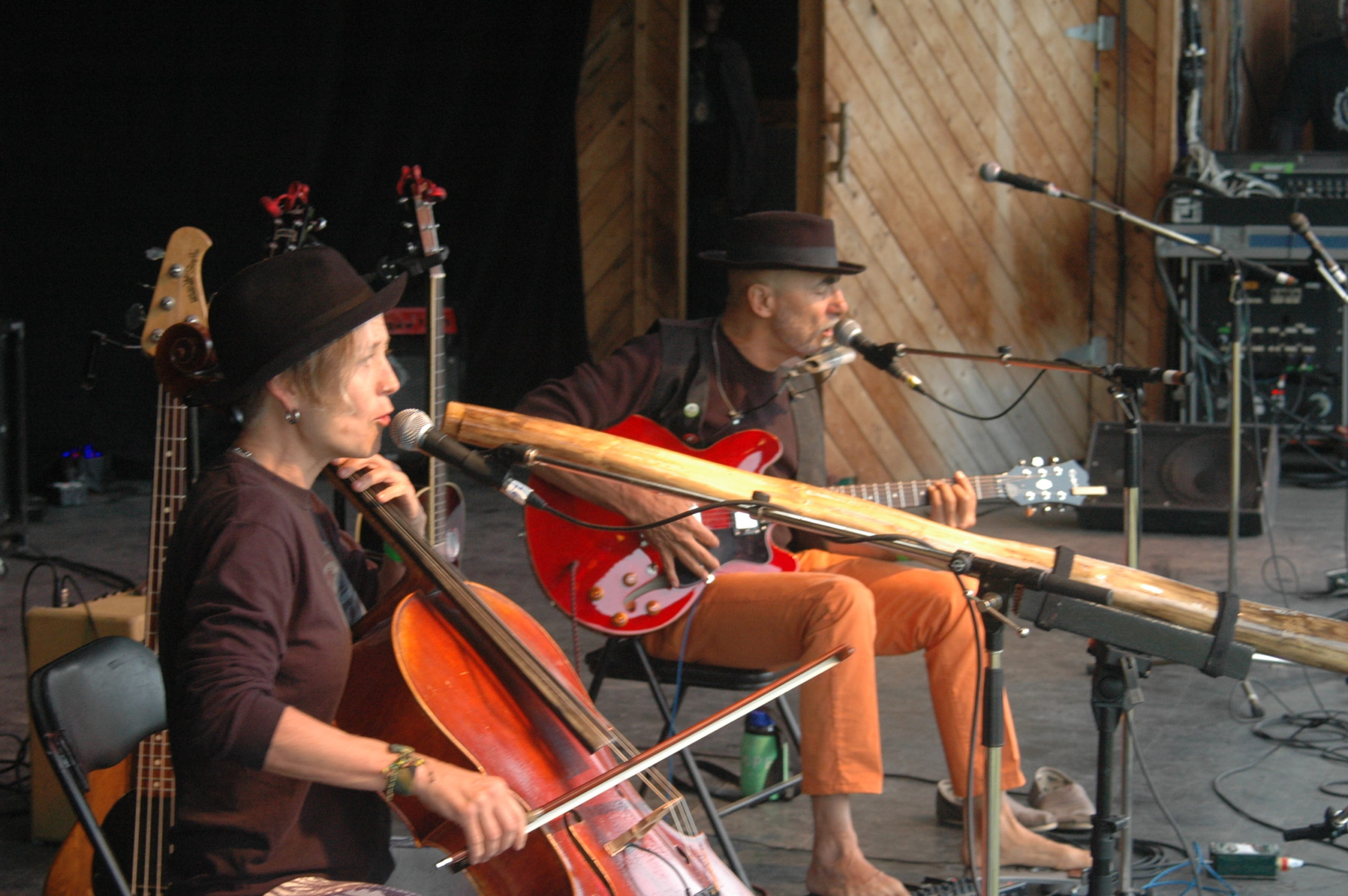Jennis playing the main stage at the Midsummer Festival in Smithers, BC, 2016